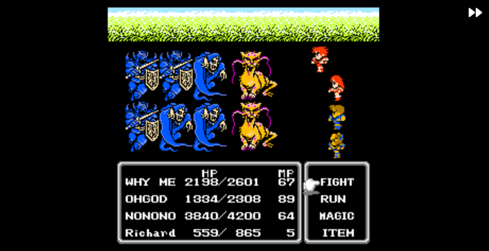 It is always fun when this game gives you a new character with half the health of the rest of your party!