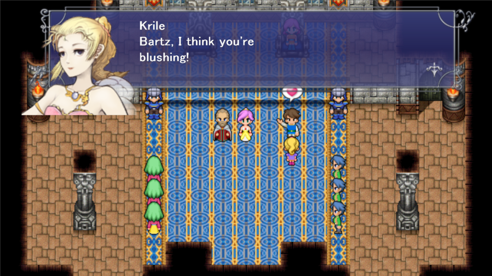 There's a quick joke about Faris needing to wear a dress, and Bartz swooning over her like a dog. It's not great!