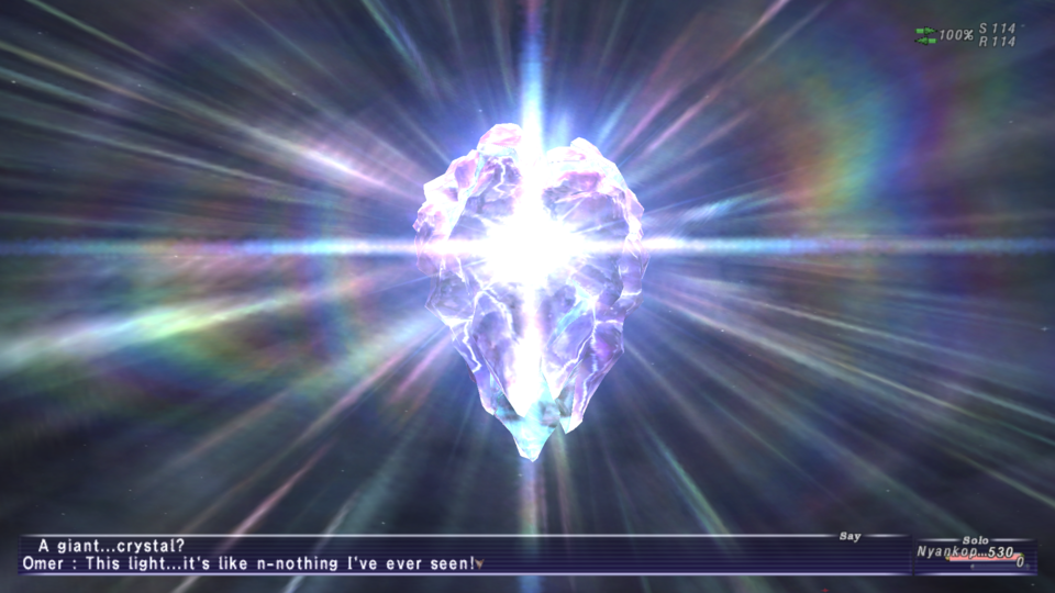You are surprised that there are crystals in a Final Fantasy game? Where have you been?