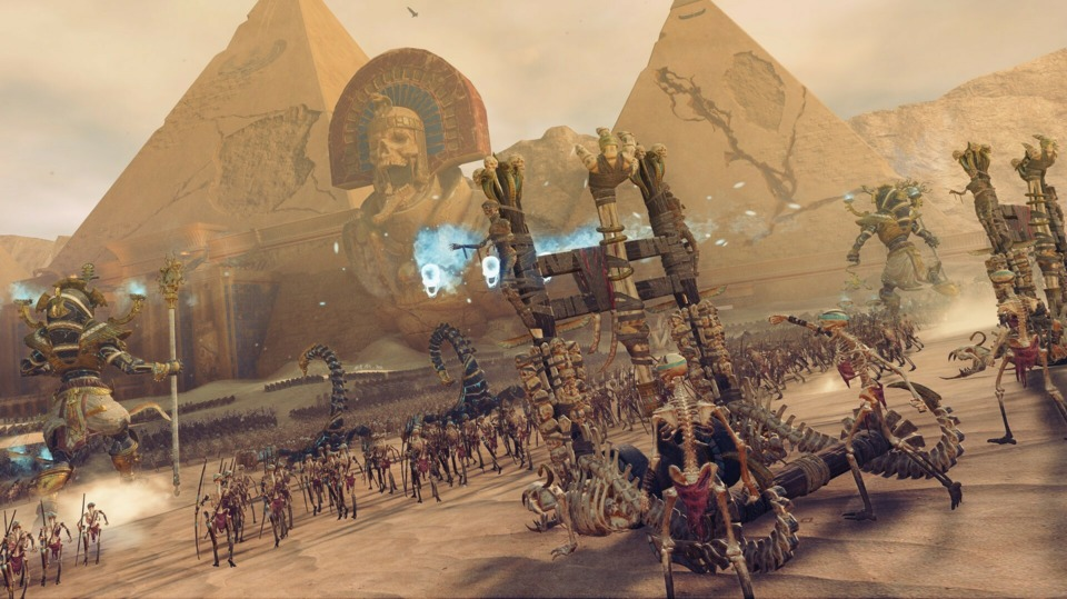 The Tomb Kings have the best animations in Warhammer II.