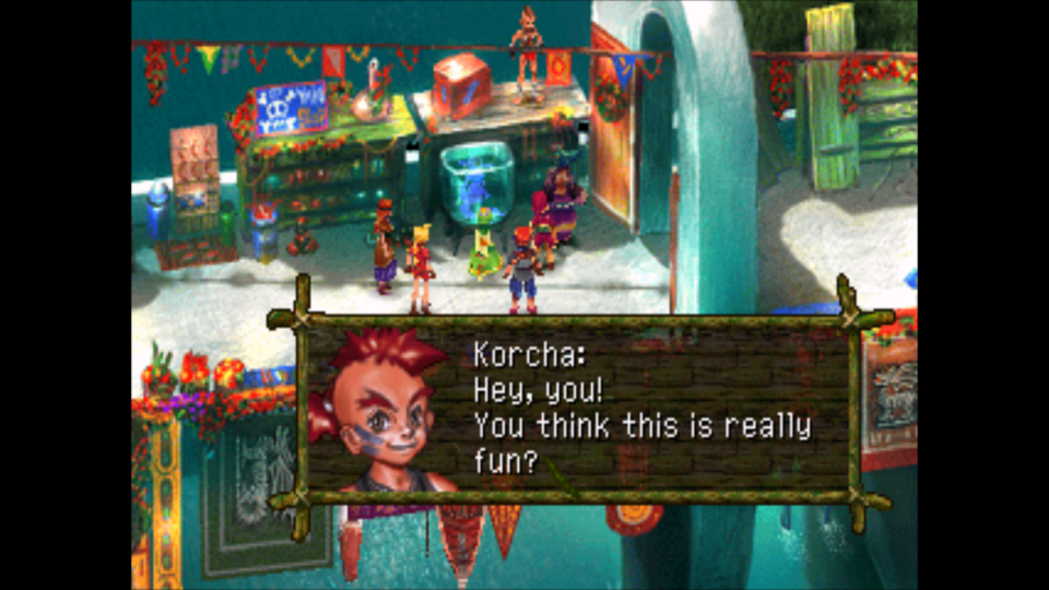 Ah, yes, everyone's favorite character, Korcha. I look forward to spending hours with such a wonderful character....