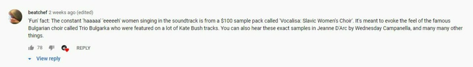 I also want to share this awesome comment for the YouTube posting of the Balan Wonderland Quick Look.