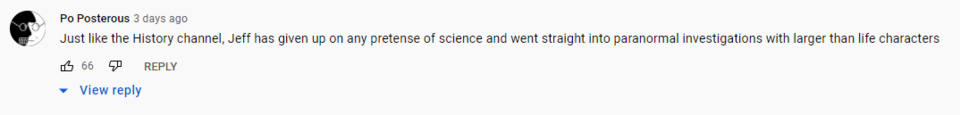I also want to give big props to this comment on YouTube. It is most excellent.