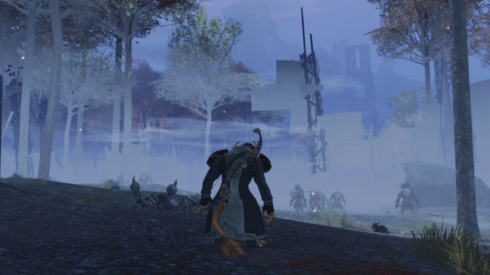 On the prowl for Flame Legion tail on a foggy Monday morning