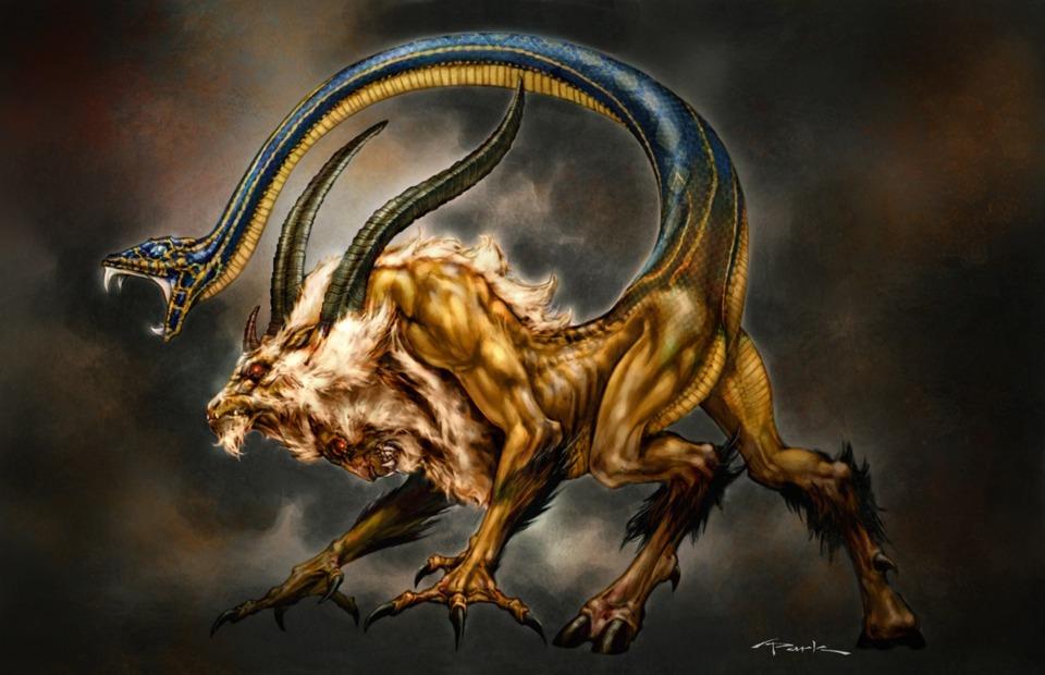 Chimera concept art for God of War.