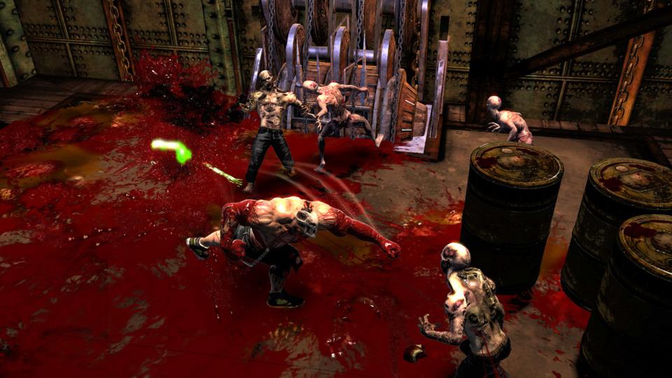 The game emphasizes cartoonish levels of gore.