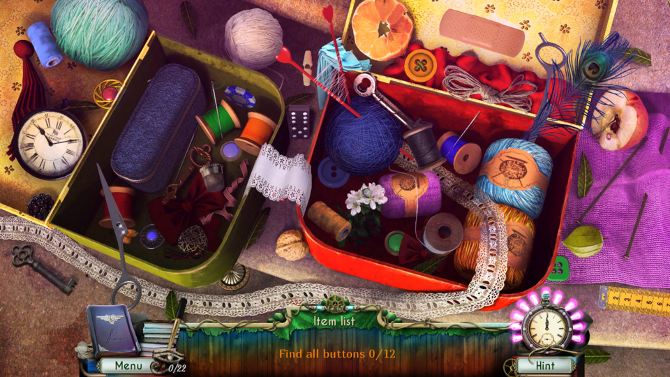 One of the games hidden object scenes