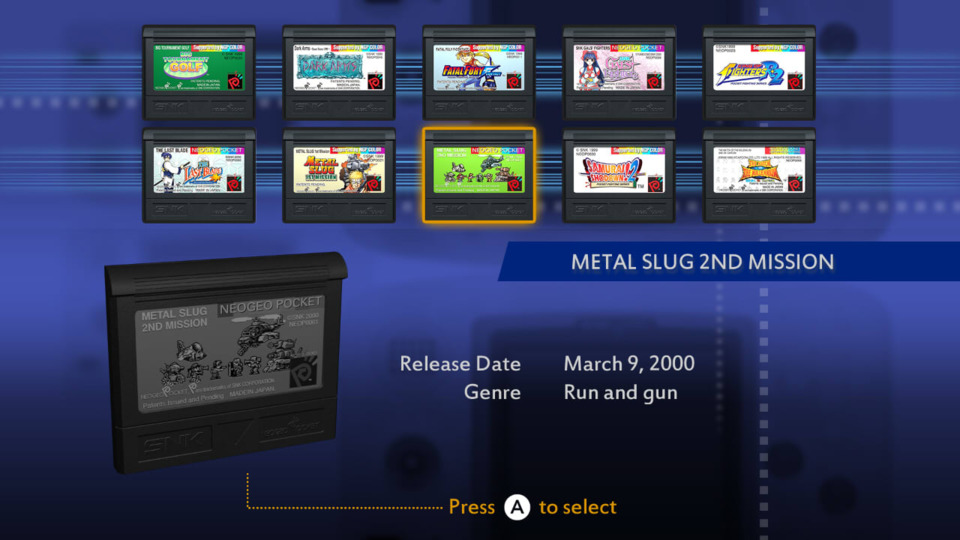 The Game Selection Screen