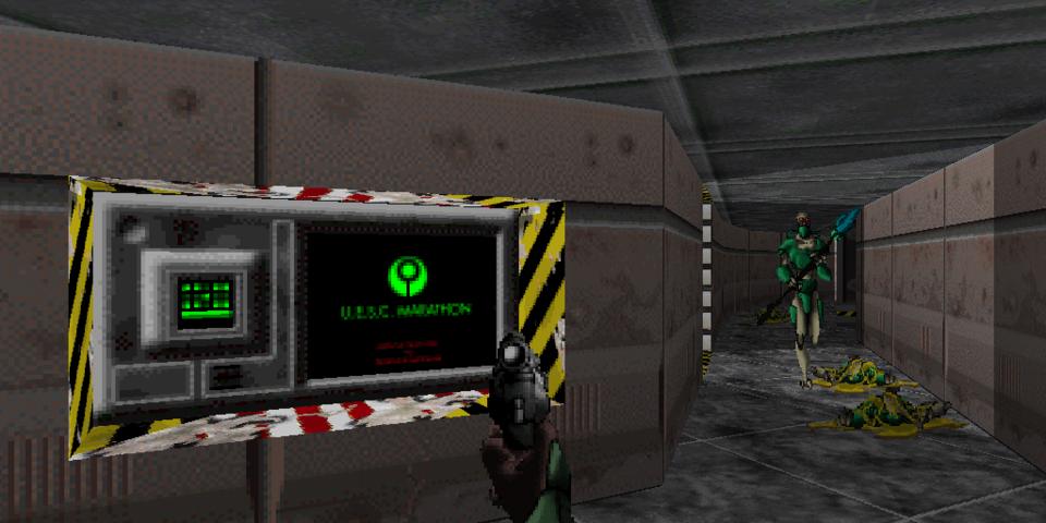 Marathon's story is conveyed mostly through computer terminals.