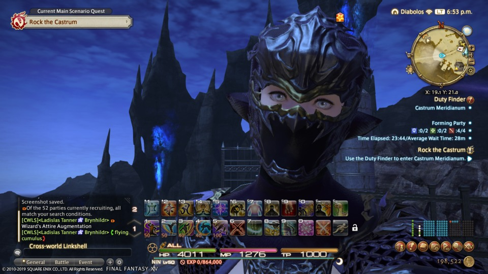 Pictured: my view for entirely too much time spent in FFXIV this past week.