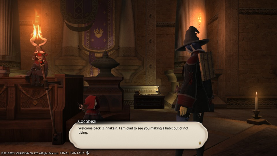 You say that, but the number of times I end up back in New Gridania is moderately embarrassing.