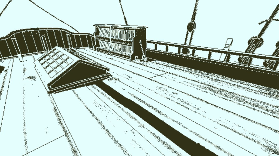 The deck of the Obra Dinn one of the few screen shots I remembered to take. This game looks awesome.