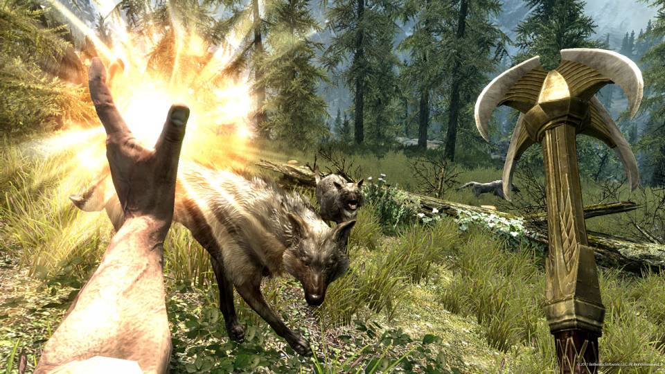 If you close your eyes, you can pretend you're playing Skyrim right now. Don't open them.