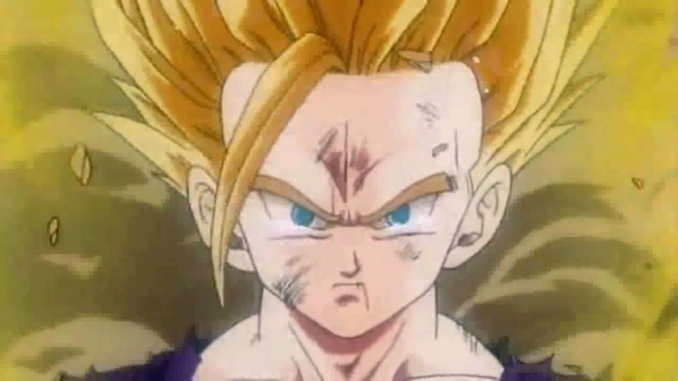 This is nine year old Gohan going to A LEVEL BEYOND SUPER SAIYAN!