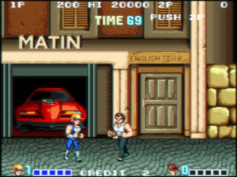 Double Dragon, the first game in the franchise.