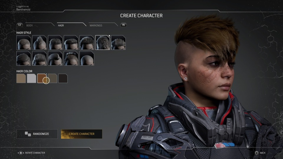 How is this hairstyle possible in the apocalypse?  Did they ship a bunch of hairspray up with everything else?  And for a soldier it's just conceptually insane because it interferes with vision.  Thanks, I hate it!