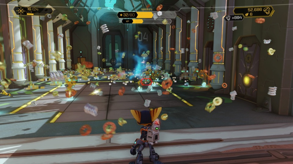 Shoot stuff, get bolts. That is the core Ratchet & Clank experience. It's a combination that tastes as good as spreading Nutella on a croissant.