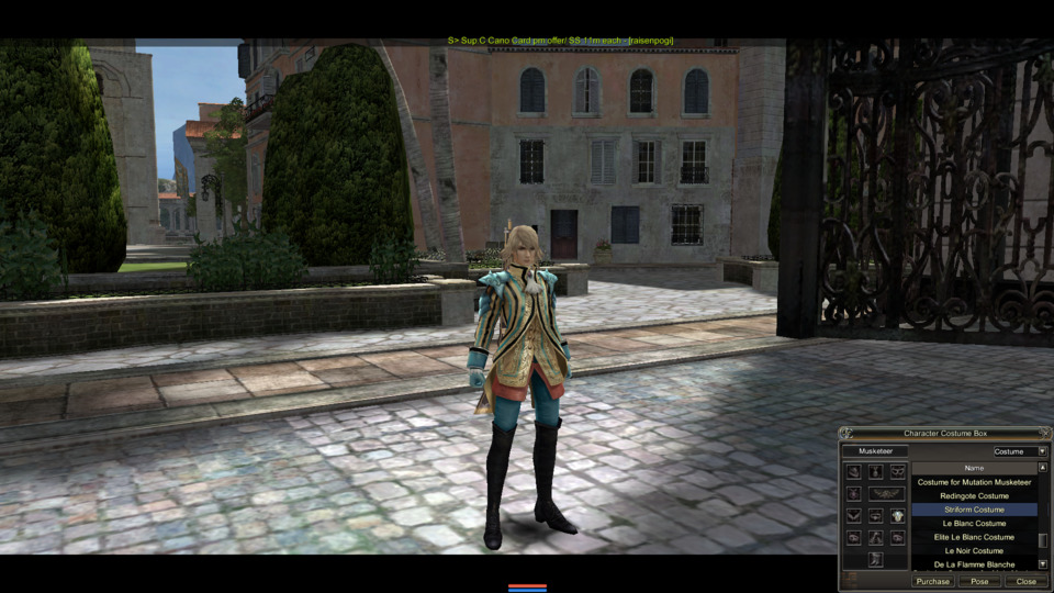 And here is the costume in game.