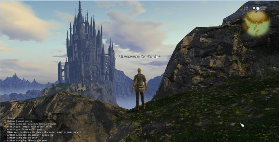 Final Fantasy XIV 1.0 (Beta) - Sept 2010 - I stand looking out over the locked city of Ishgard. We'll be able to go in there soon right? Someday. I can't wait.