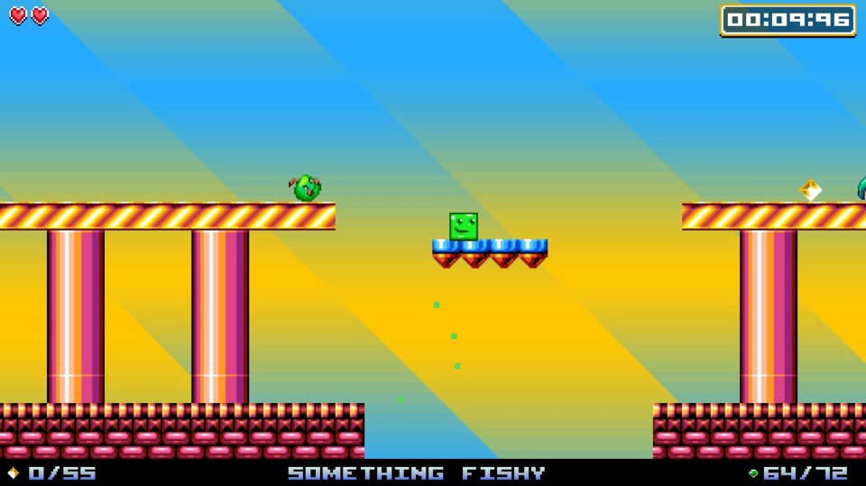 If the garish color scheme and stage name didn't give it away, the weirdly oval platforms the next screen over might. Will we Amiga owners ever be free of the stigma of James Pond 2: RoboCod?