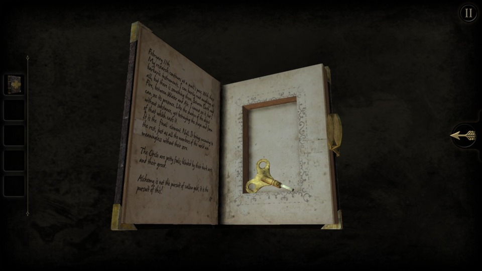 It's important to not leave your stupid secrets in your pocket. Or hollow book, in this case.