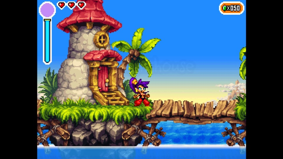First shot of the game and it already looks amazing. That's WayForward and their pixel art for you.