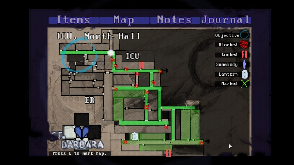 I love this sort of map system, and I don't understand why more horror games don't use it.