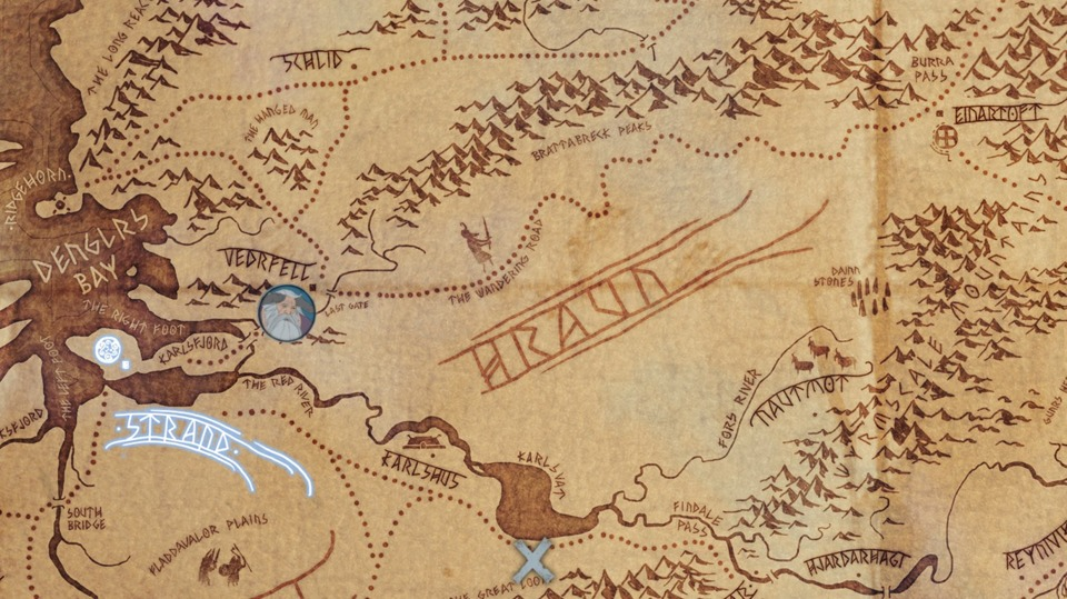 Something I'll probably forget to mention next time: the world map is absolutely full of detail. Every named location, from cities to mountain ranges, has its own paragraph of lore attached to it. Obviously, there's a lot of chapters to come to make the most of all this work.