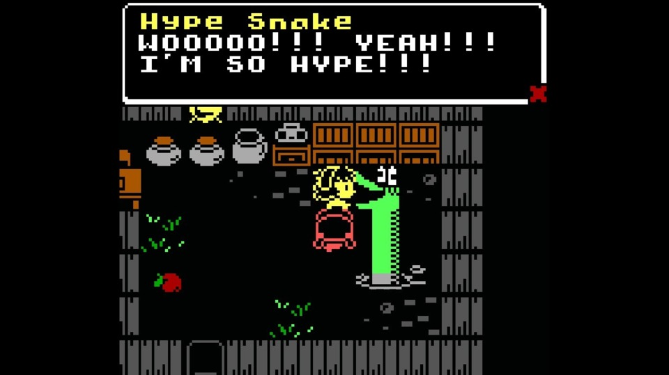 The Hype Snake is a man (snake) of simple pleasures.