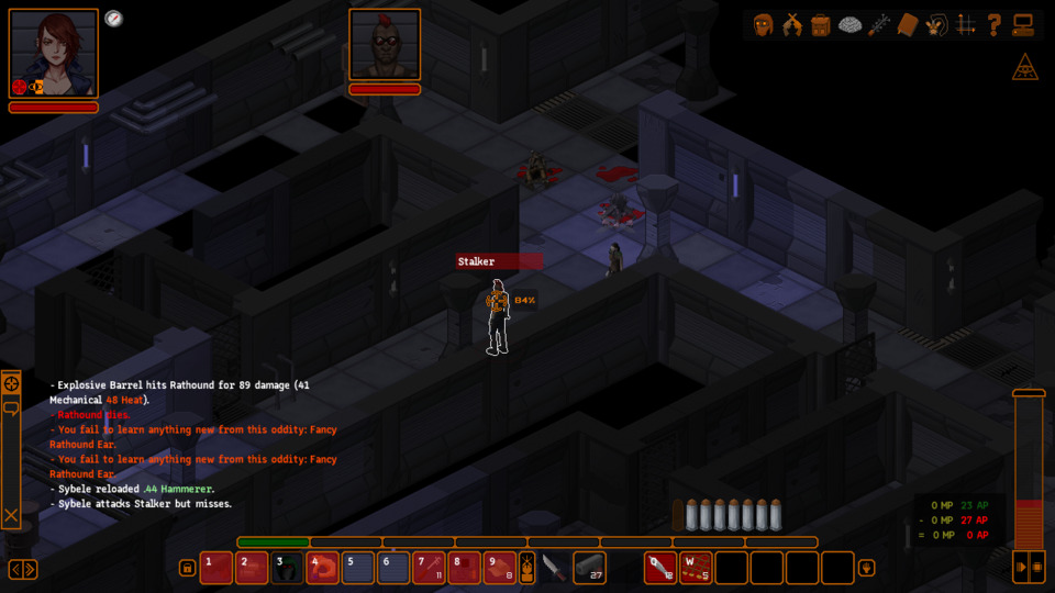 UnderRail is very front and center about what it is. And what it is is the type of no-chill CRPG where you could have an 84% chance to hit some guy and still miss.