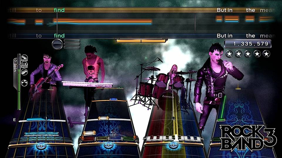 When you play Rock Band 3, we think it might look something like this. But wait for official word from Harmonix--we could be lying.