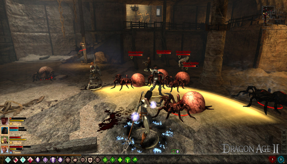 Even the PC version of Dragon Age 2 had a quickbar with hotkeys associated to each item placed in there!