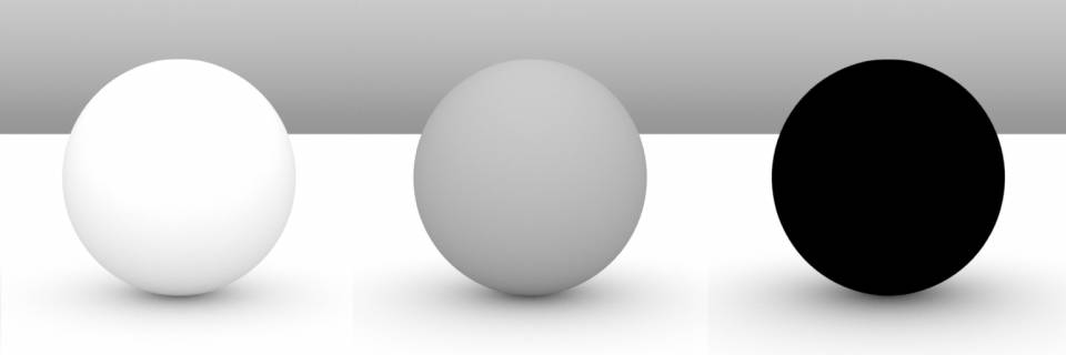 80%, 40%, 0% diffuse respectively. Diffuse amount ends up being just a brightness modifier for the color. 0% here shows the complete absence of reflections.