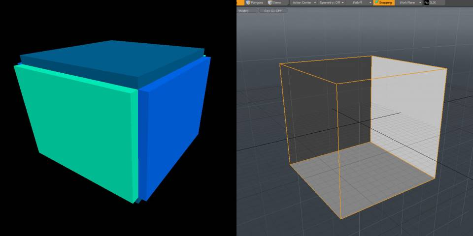 Typical brush room (left) Vs. typical polygonal room (right). On the brush room, the (not pictured) inside faces are the ones that actually are important.