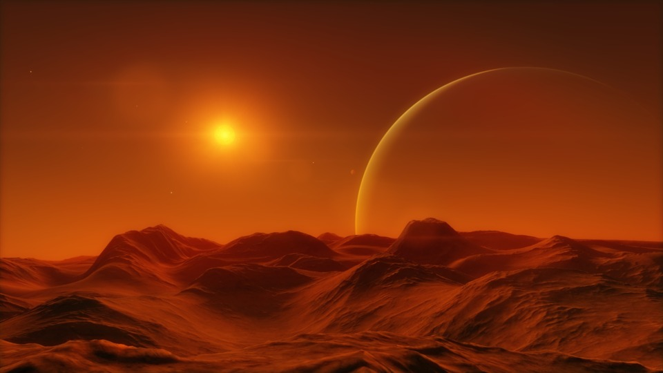 Same place again, but now on the surface of that red desert moon