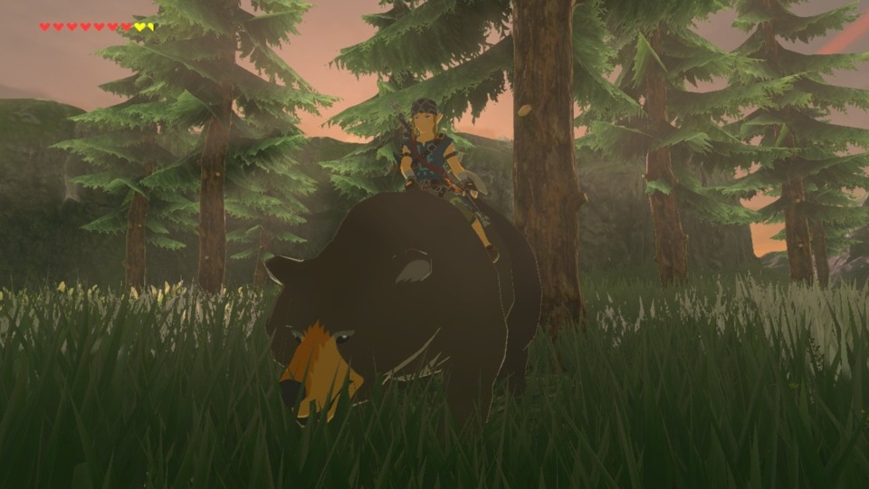 You can ride the bears!