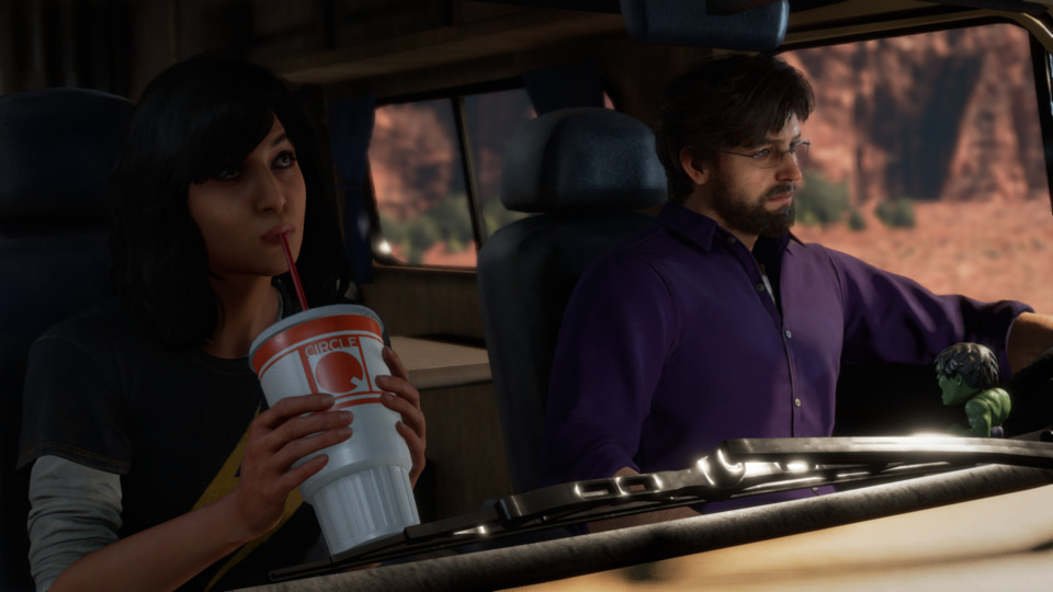 One of my favorite moments in the game is this quiet RV ride.