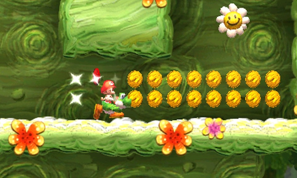 The genius of the red coins is that they're often hidden in a plethora of yellow ones.