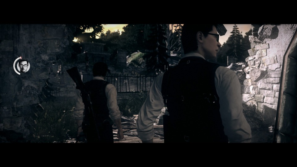 Those big black bars are omnipresent in The Evil Within, even during gameplay.