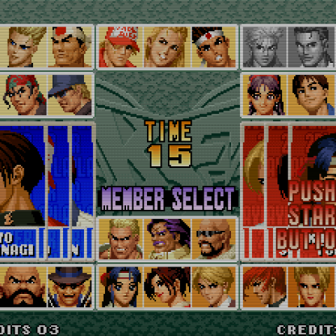 King Of Fighters '96 PS1 gameplay,