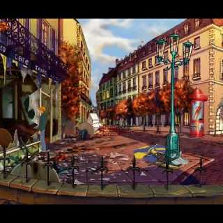 Opening sequence from Broken Sword 1 (PC)