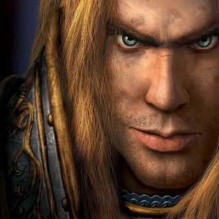 Arthas before the corruption, but sort of angry-looking