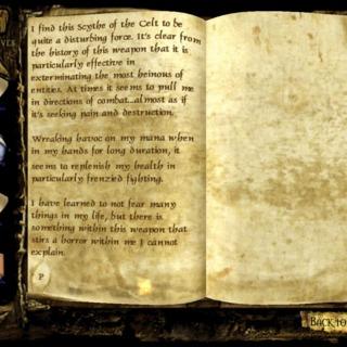 Scythe journal entry