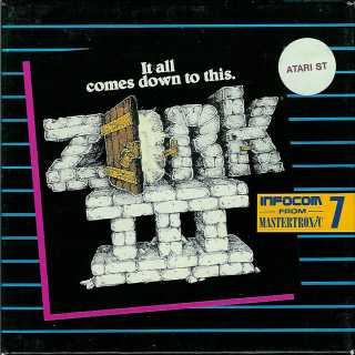 Zork 3 Atari ST box front