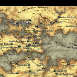 World map of Ivalice in Final Fantasy XII