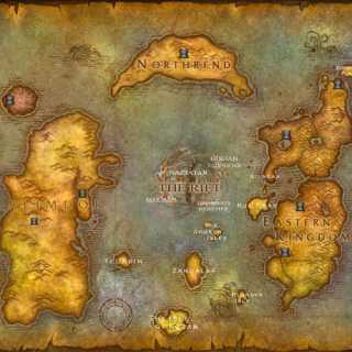 The map of Azeroth.