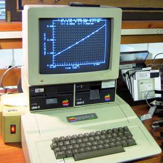 Apple II+ with dual disk drives