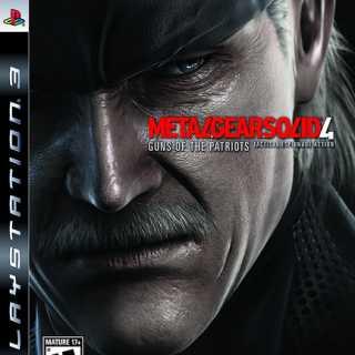 Metal Gear Solid 4: Guns of the Patriots, North American box art