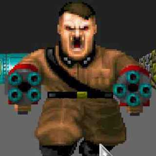 Adolf Hitler, as seen in Wolfenstein 3D