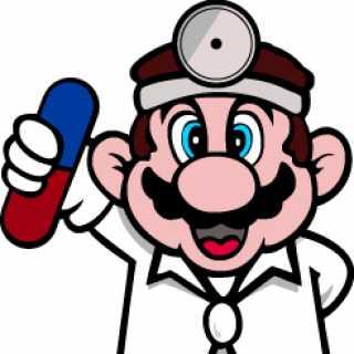 Mario as Dr. Mario